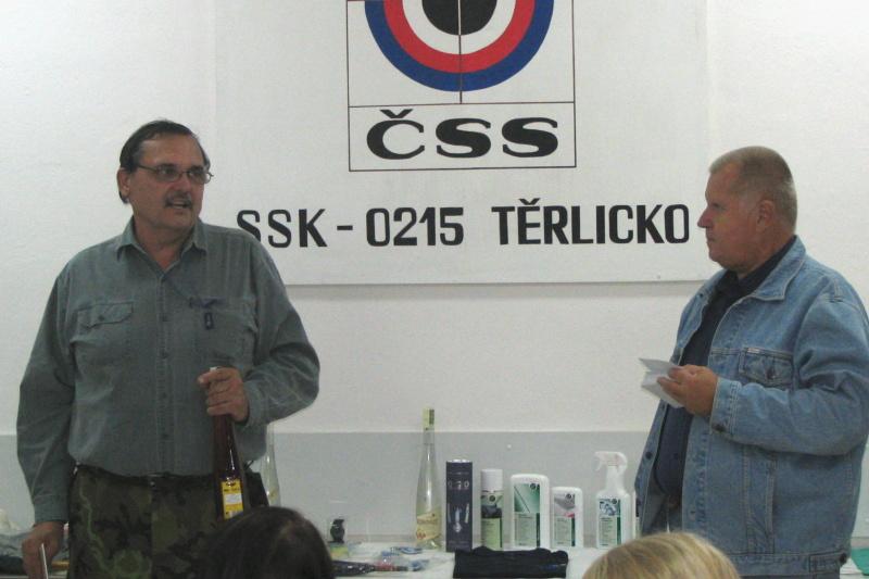 Vítěz - Lubomír Novotný s předsedou SSK 0215